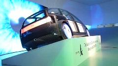 Toyota Hybrid Green Future Concept Car Stock Footage