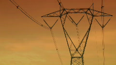 High voltage pylons - stock footage