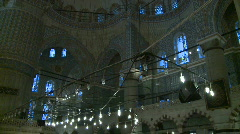 Blue mosque inside Stock Footage