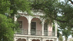 New Orleans buildings, houses, mansions Stock Footage