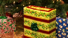 Gifts under a Christmas tree Stock Footage
