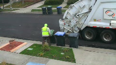 Garbage Truck City Sanitation Public Waste SEQUENCE Stock Footage