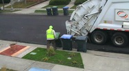 Stock Video Footage of Garbage Truck City Sanitation Public Waste SEQUENCE