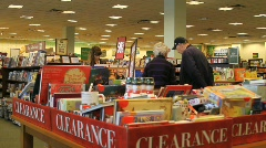 Bookstore Shoppers Stock Footage