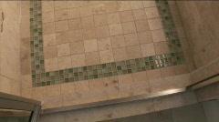 Home stone bath Stock Footage