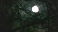 Creepy night moonlit sky Stock Footage