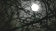 Moon shifts shapes Stock Footage