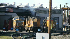 Railroad, maintenance station Stock Footage