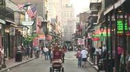 New Orleans pedestrians Stock Footage