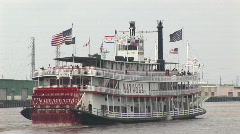 New Orleans paddle steamer Stock Footage