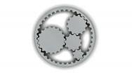 Metallic Gears (Loop + Alpha) Stock Footage