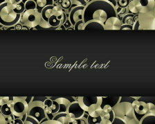 Black and gold PAL Stock Footage