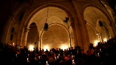 Christmas Mass at the Church of the Redeemer, Jerusalem Stock Footage