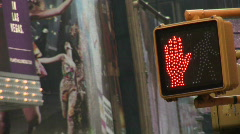 Crosswalk sign in Time Square New York Stock Footage