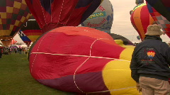 Stock Video Footage of Hot Air Balloon Mass Ascension