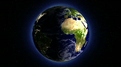 Earth Day to Night Change Animation Stock Footage