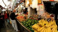 Mahane Yehuda Market in Jerusalem Stock Footage