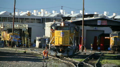 Swithing yard, railroad Stock Footage