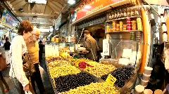 Mahane Yehuda Market in Jerusalem - stock footage