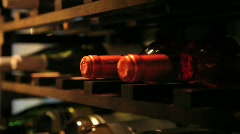 Wine cellar in Bistro - stock footage