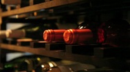 Wine cellar in Bistro Stock Footage