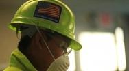 God Bless America Helmet Stock Footage