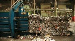 Large Trash Compressor Stock Footage