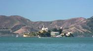 Alcatraz Island and Marin Headlands (timelapse) Stock Footage
