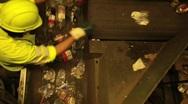 Sorting Trash Stock Footage