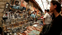 Mahane Yehuda Market in Jerusalem Stock Footage