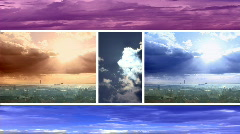 Sky and clouds Timelapse Stock Footage