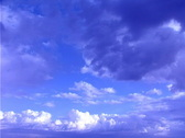 Stock Video Footage of Blue Clouds and Sky Timelapse
