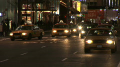 Traffic at Night Through Time Square Stock Footage