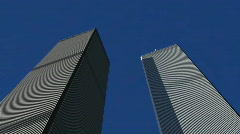 World Trade Center - Pan Upward 1080p - stock footage