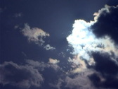 Stock Video Footage of Clouds and Sun Timelapse