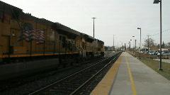 Locomotive, maintenance yard Stock Footage