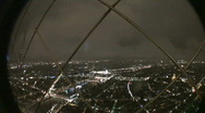 Tour Eiffel View by Night Stock Footage