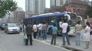 Shanghai Bus Stop 3 Stock Footage