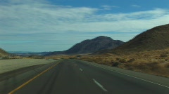 Desert approaching Baker, CA - stock footage