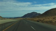 Stock Video Footage of Desert approaching Baker, CA