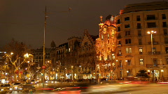 Barcelona Time laspe day to night Stock Footage
