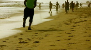 African beach sport Stock Footage