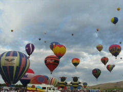 Reno Balloon Event Stock Footage