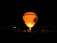 DUELING Hot Air BALLOON Stock Footage