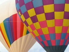 Hot Air BALLOON'S NUDGE Stock Footage