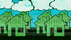 Housing Market Looping Background Stock Footage