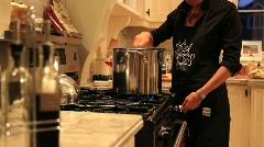 Woman stirring  Stock Footage