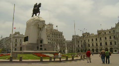 Plaza San Martin, Lima, #1 - stock footage