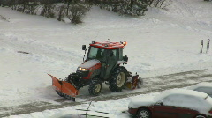 Tractor snow Stock Footage