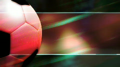 Soccer Abstract Looping Background - stock footage